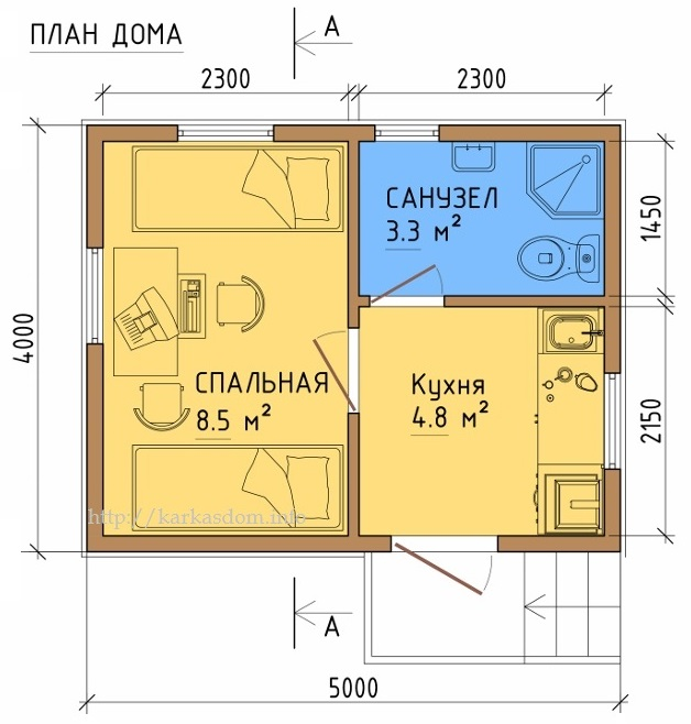 проект дома 50 кв.м