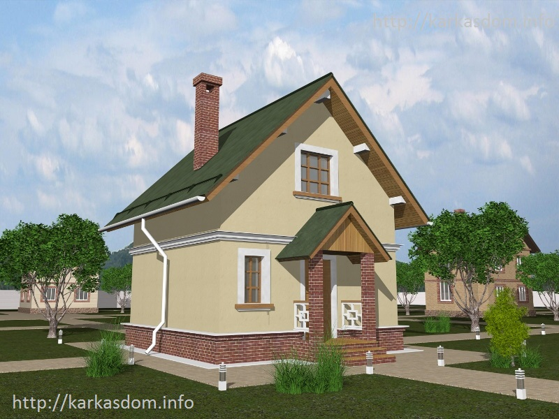 Пошаговое строительство дома с мансардой 110