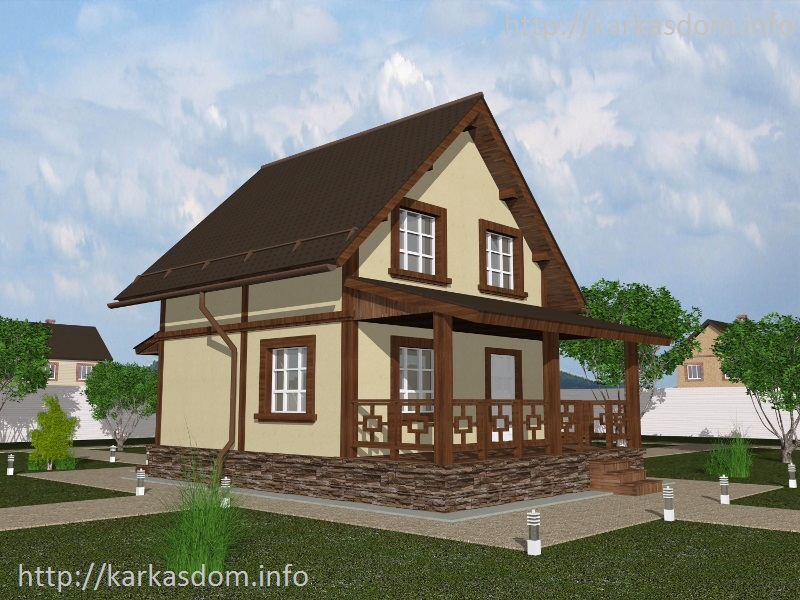 проект каркасного дома 6х8 с мансардой скачать бесплатно
