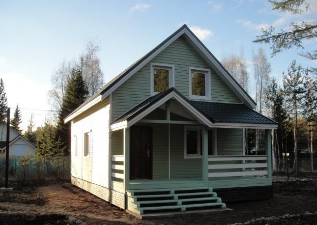 Второй вариант, Каркасный дом 6х10м 120м/кв