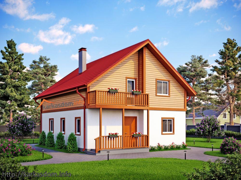 Первый вариант, Каркасный дом 8,5х10,5м 172м/кв