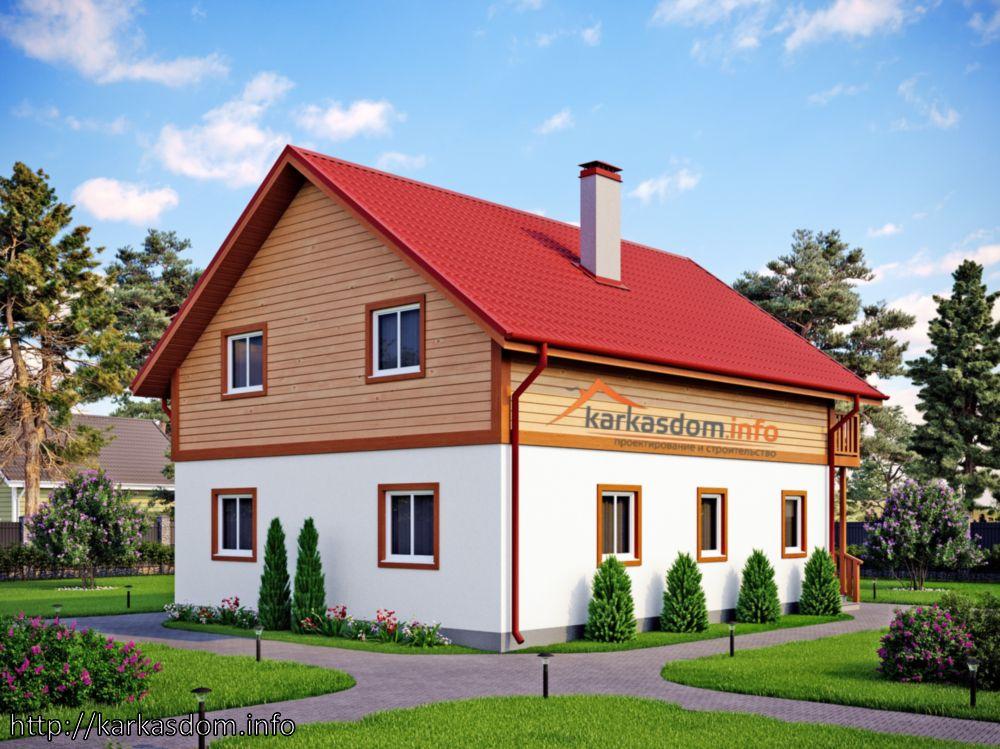 Второй вариант, Каркасный дом 8,5х10,5м 172м/кв