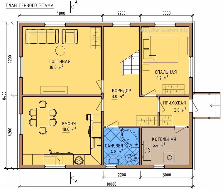 Картинки по запросу 8 на 8 проекты домов описание что такое