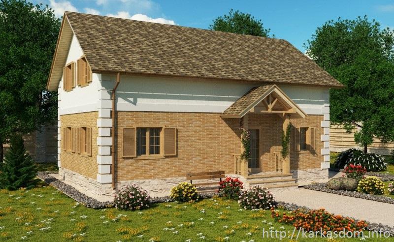 Проект двухэтажного каркасного дома