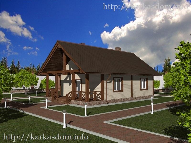 каркасный дачный дом 6 х 6 м - КАРКАСНЫЕ ДОМА
