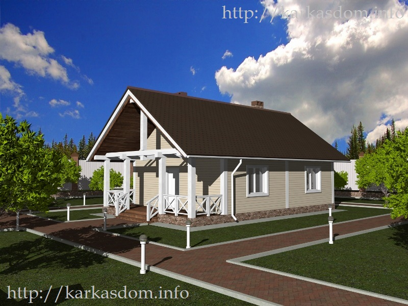 Третий вариант, Каркасный дом 7,5х12м 90м/кв