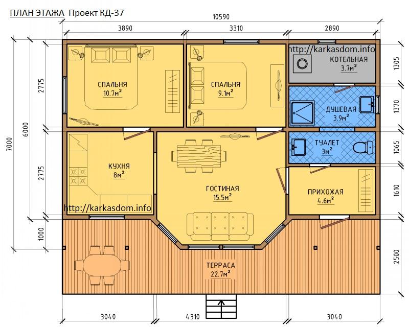 Дома проекты одноэтажные своими руками 80
