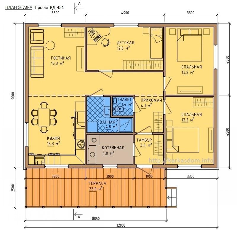 так же, готовые проекты дома размером 9на13 появлением новых