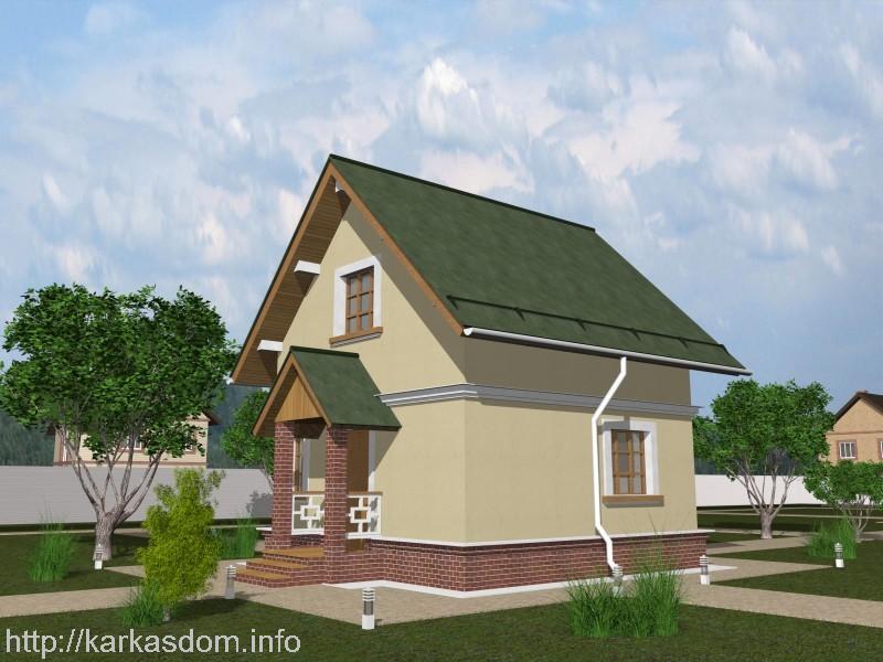 Проект двухэтажной каркасной бани