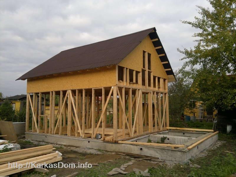 Каркасный дом своими руками 6х10