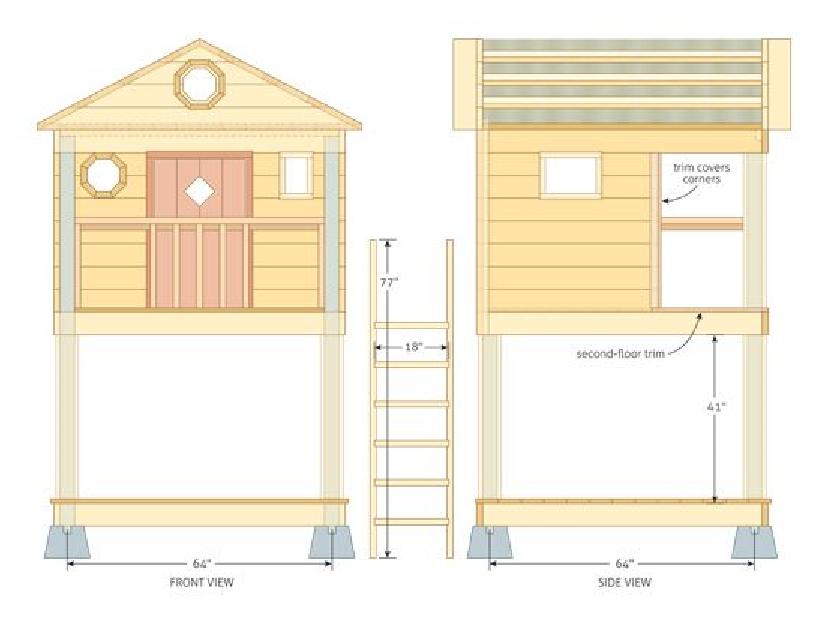 Детский домик для дачи своими руками проект 71