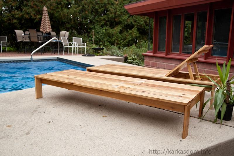 Деревянный лежак для дачи своими руками