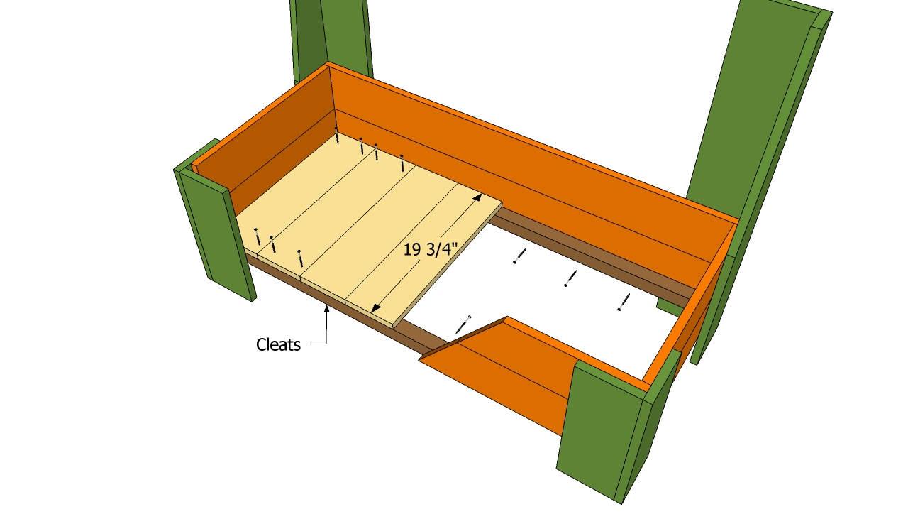 Своими руками скамья с ящиками